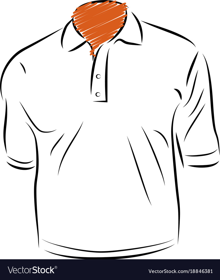 Polo shirt template vector image | public domain vectors.