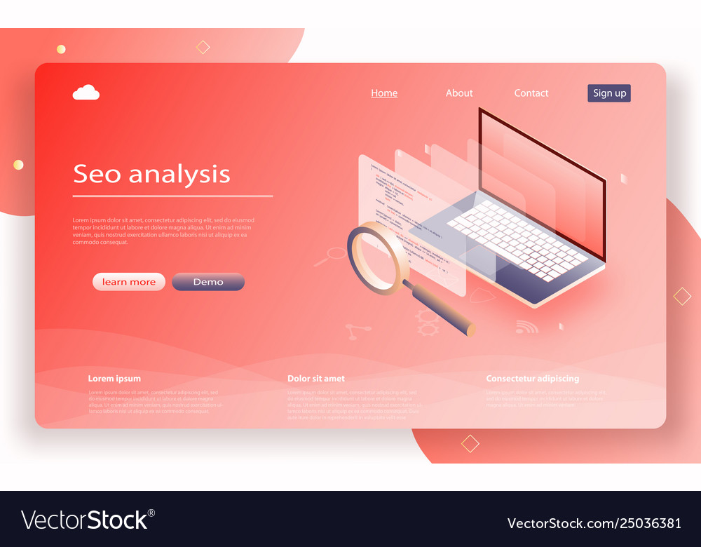 Seo analysis for banner and website