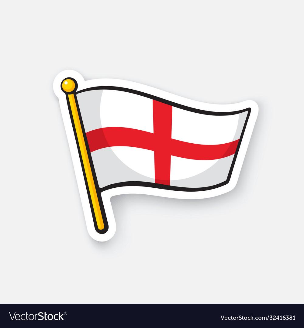 Sticker flag england on flagstaff