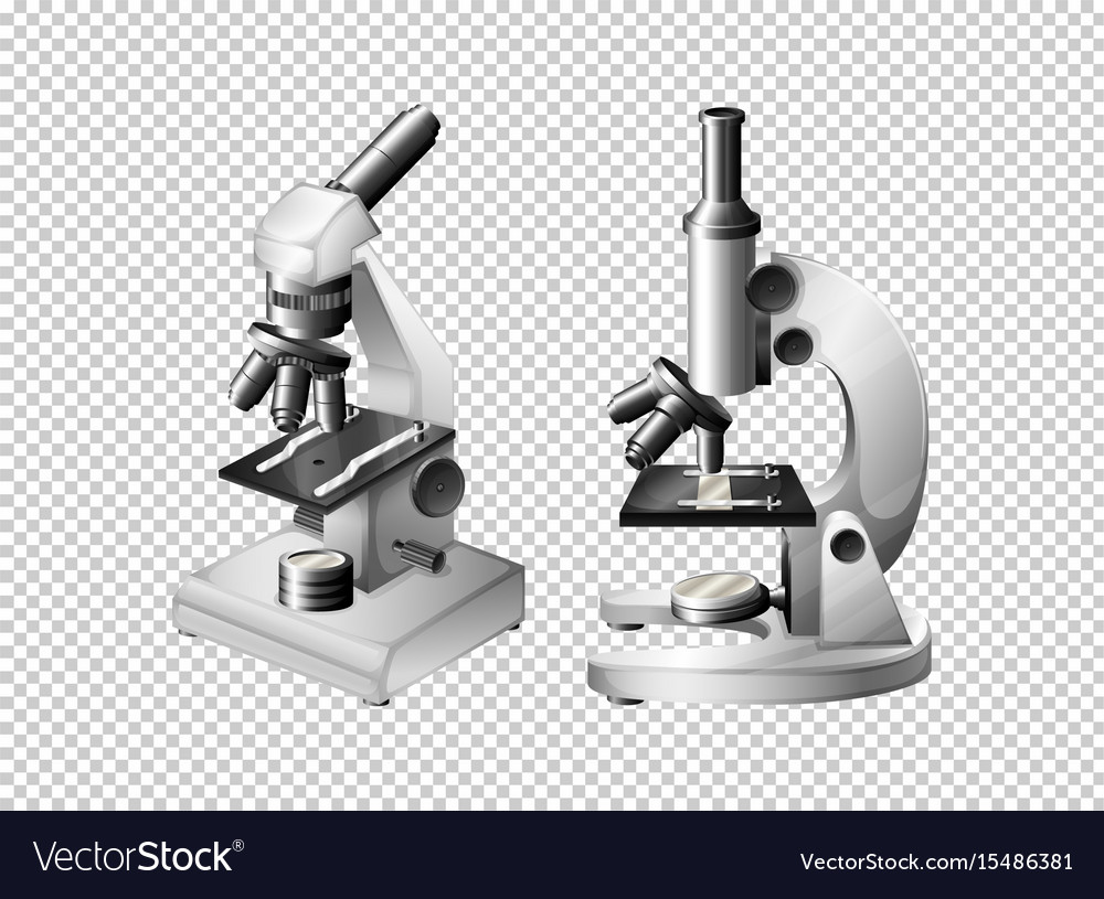 two microscopes on transparent background vector image vectorstock