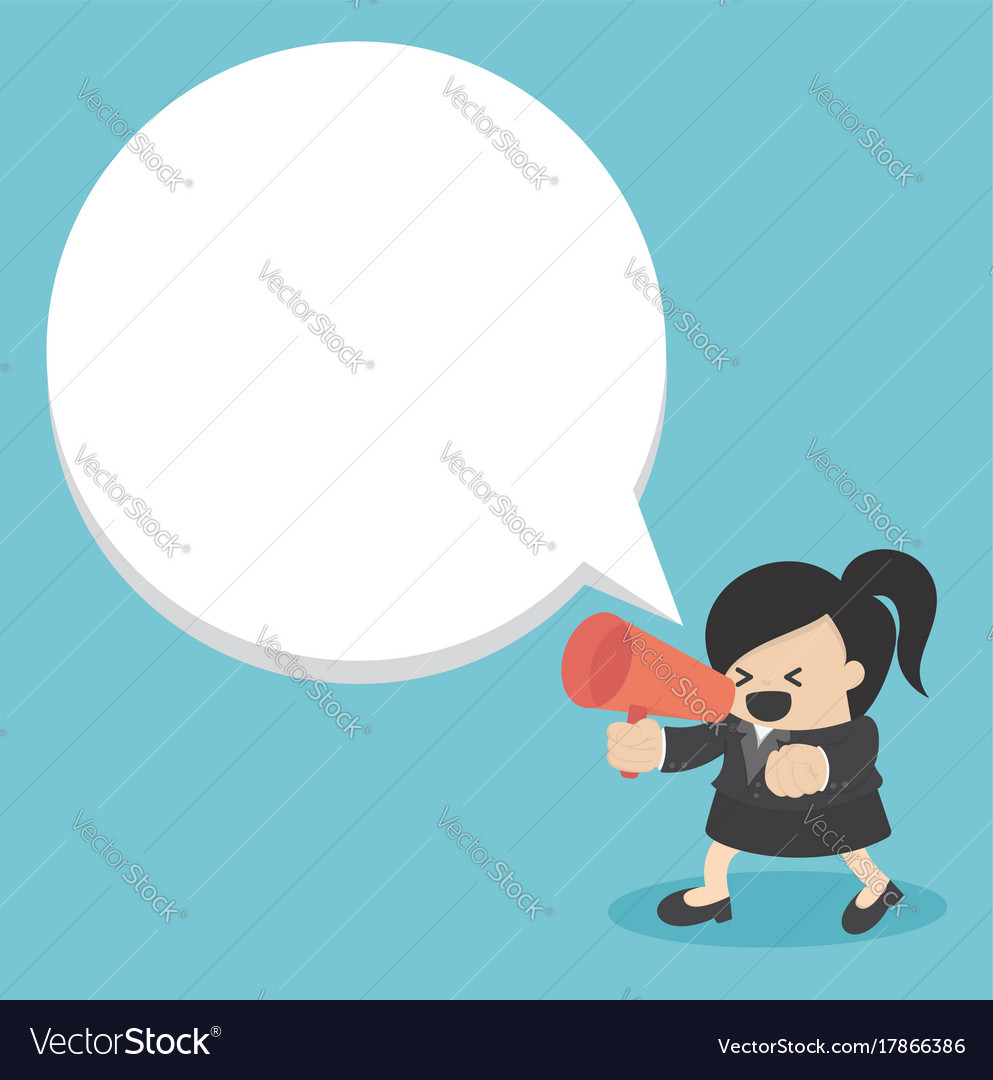 Business woman with a megaphone
