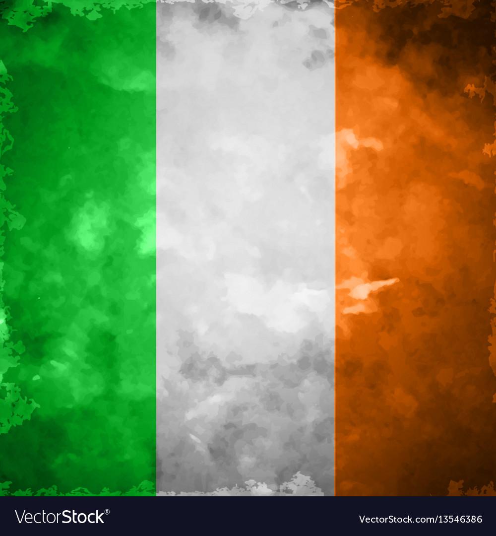 Crumpled flag of ireland vector image