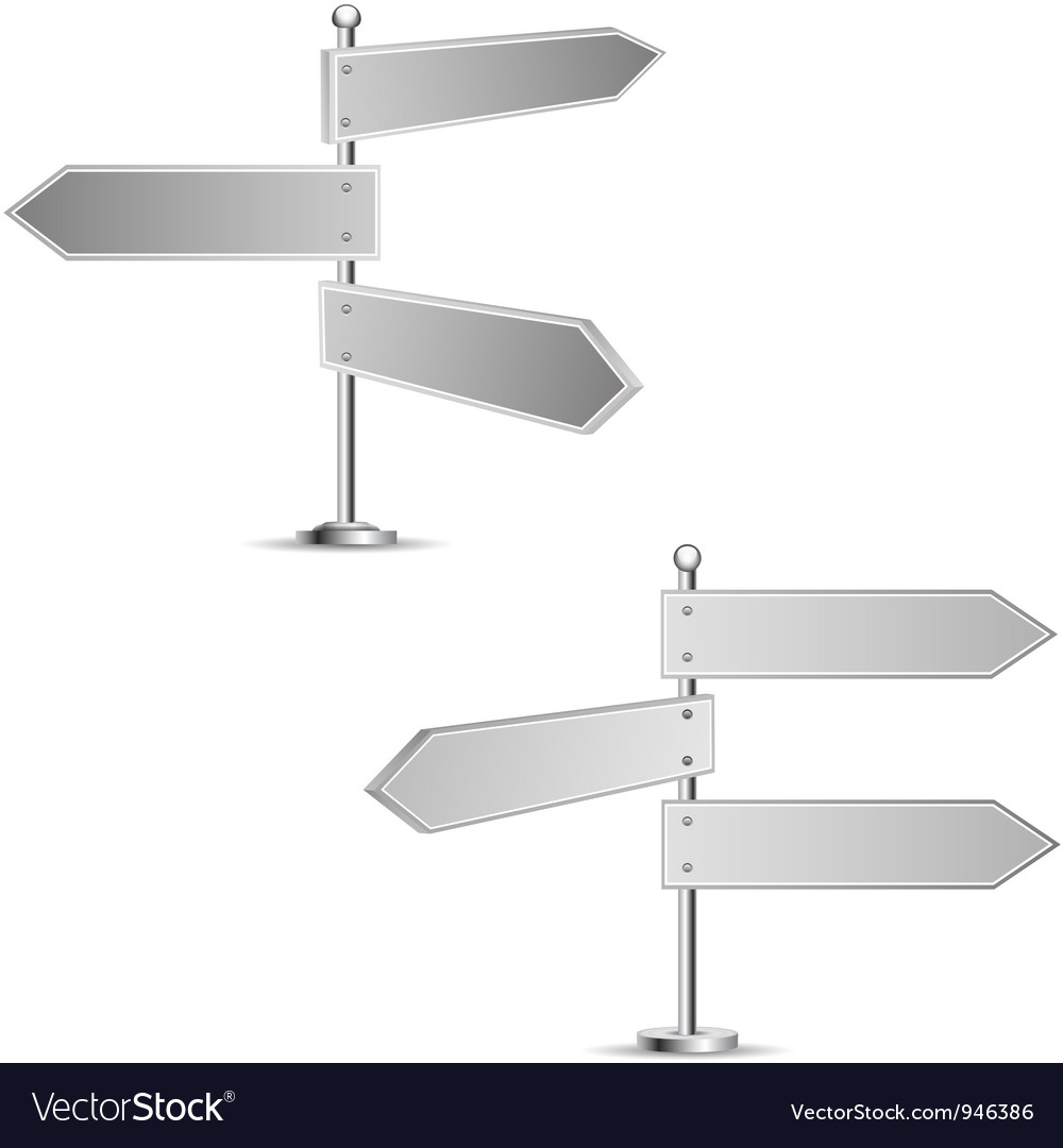 Direction road signs