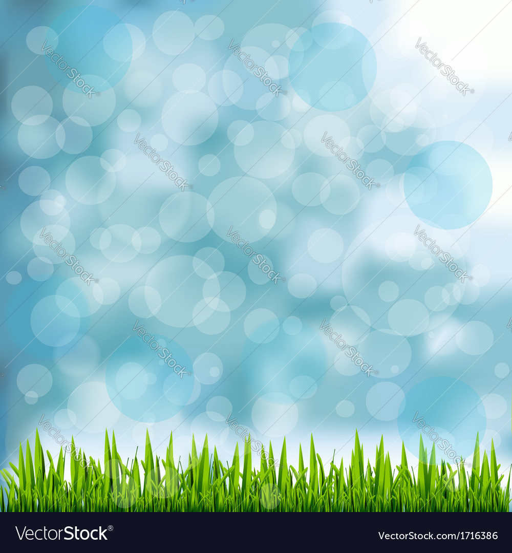 grass border on natural blue background royalty free vector