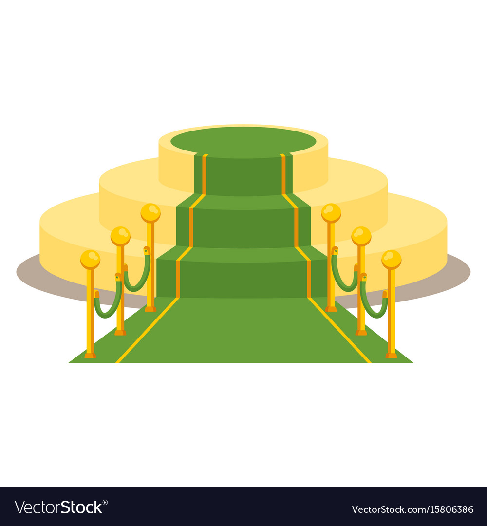 Green award carpet vector image