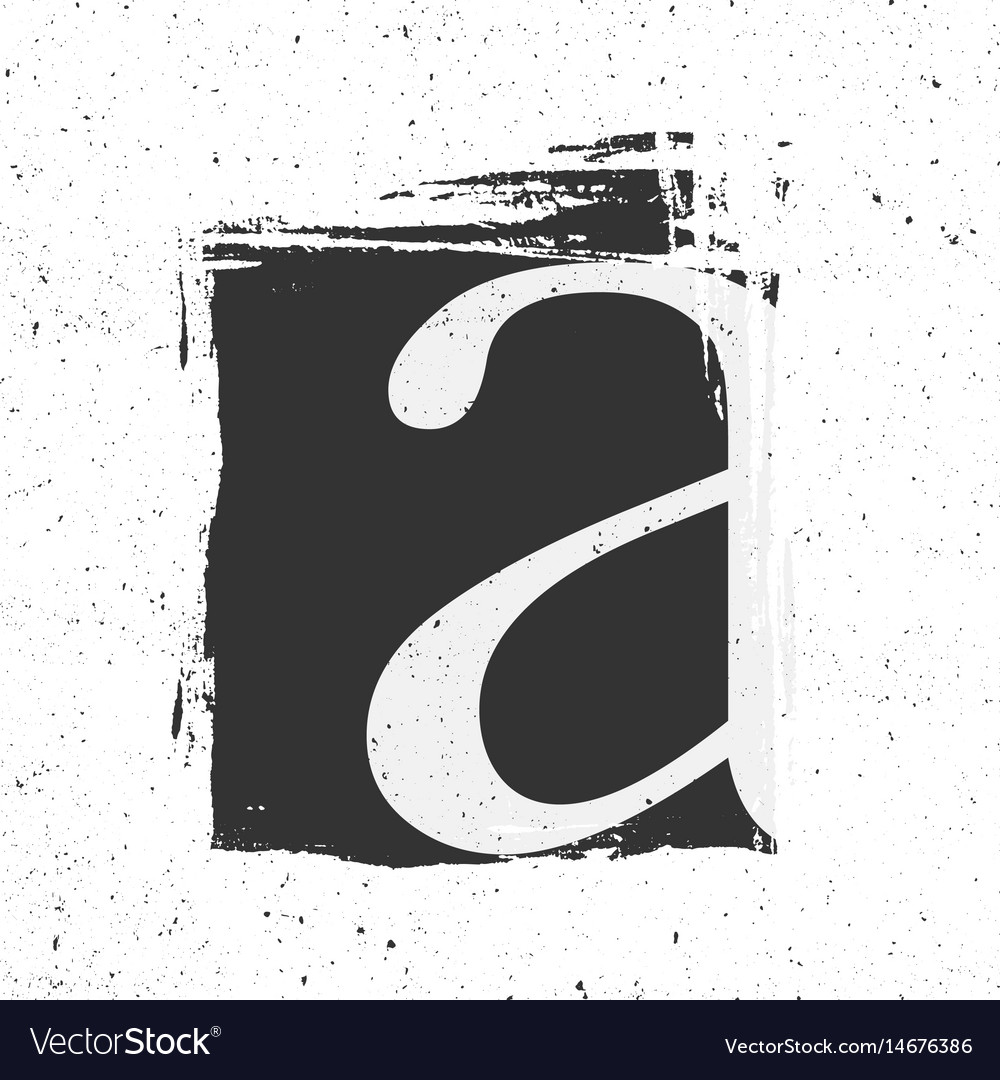 Letter A With Grunge Black Paint Spot Royalty Free Vector