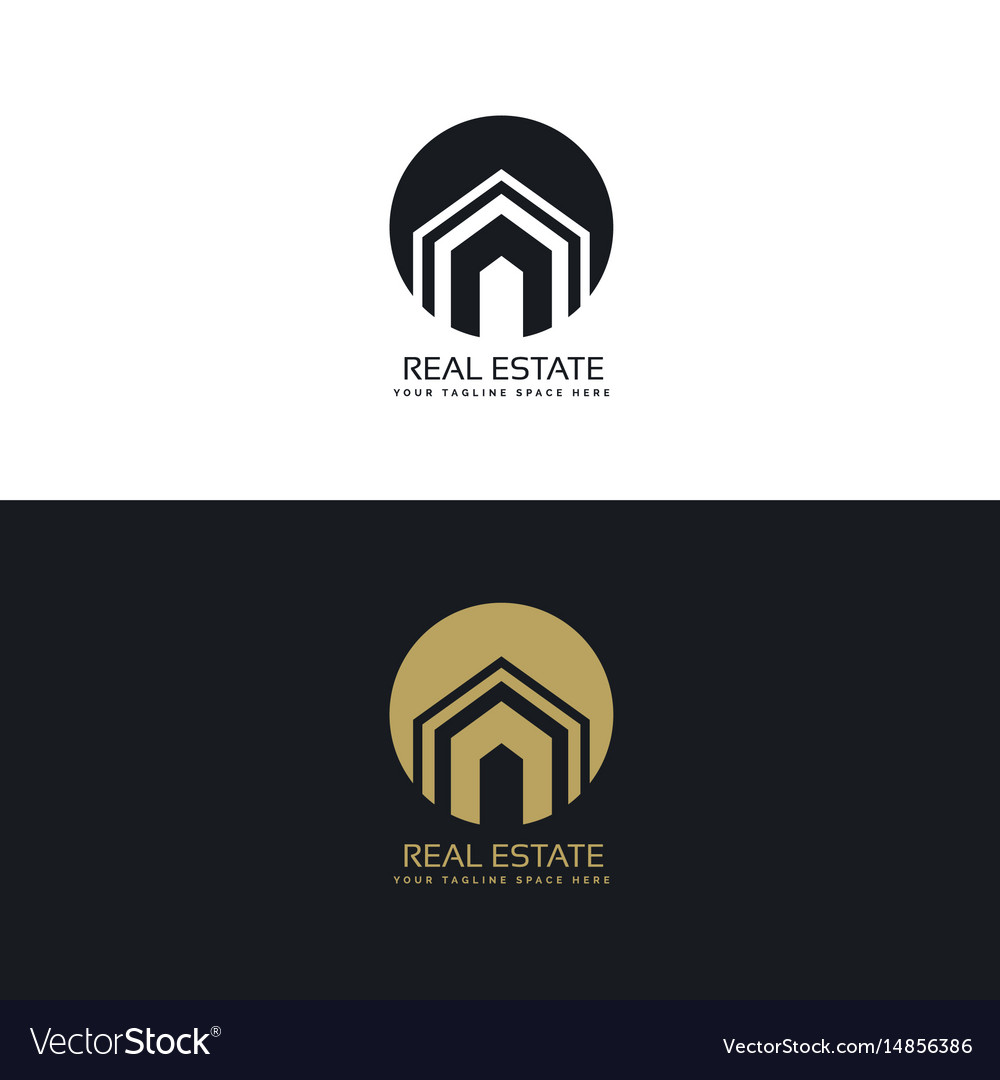 Modern real estate or house logo design concept