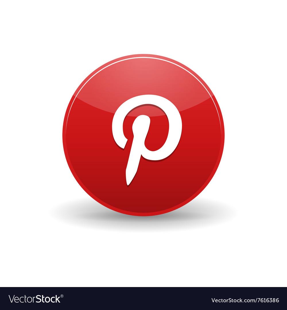 Pinterest icon simple style
