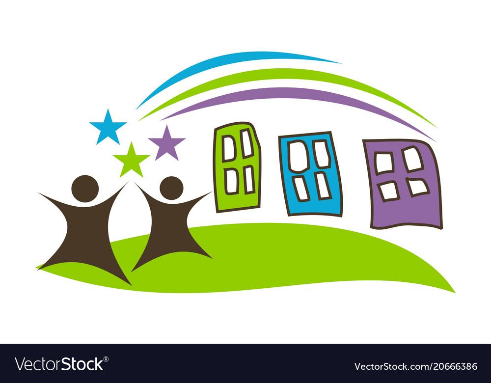 preschool logo design template royalty free vector image rh vectorstock com preschool logos creator preschool logo weymouth and dorchester