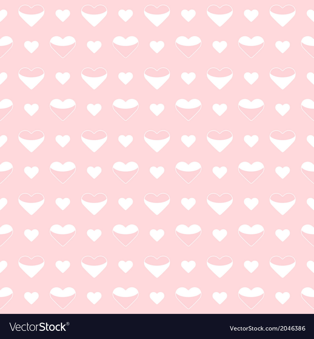 Seamless pattern cute white hearts on a pink