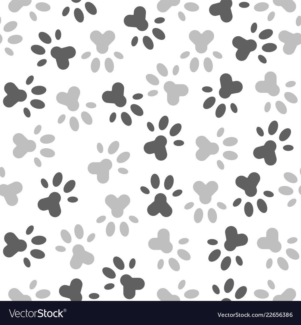 Seamless pattern of paw foot print for wrapping