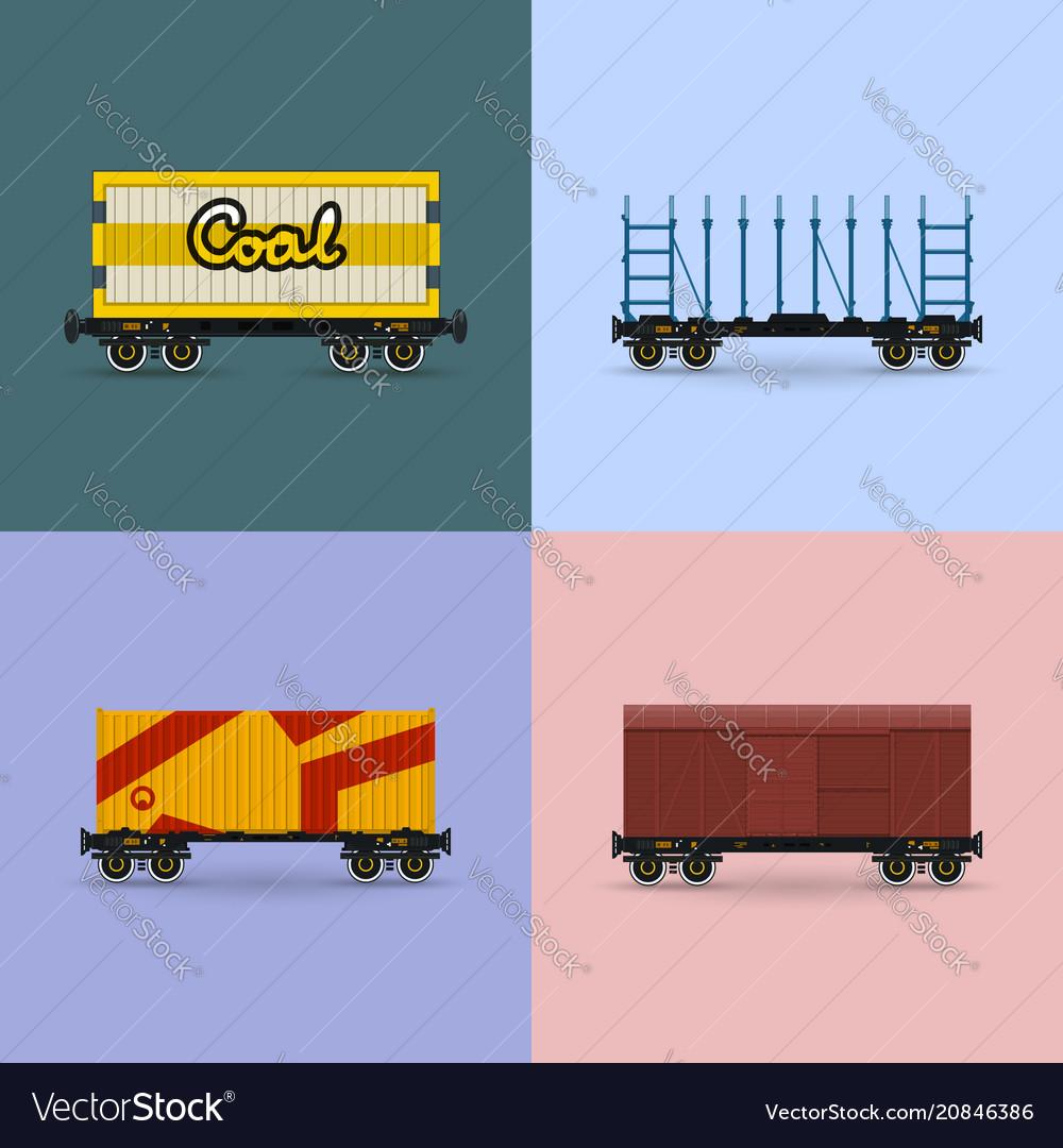 Set of freight rail transport