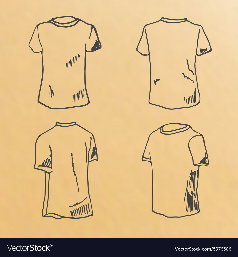 T Shirt Design Templates Sketch Vector Image