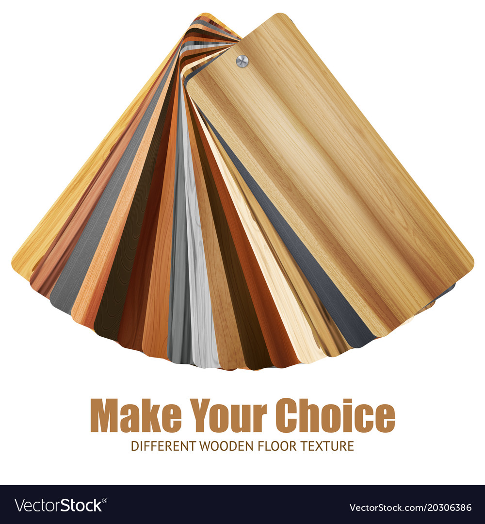 Wooden Color Palette Background Vector Image