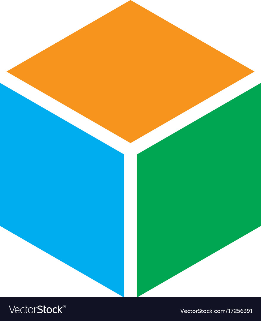 Abstract hexagon box logo