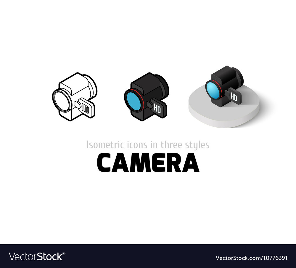 Camera icon in different style