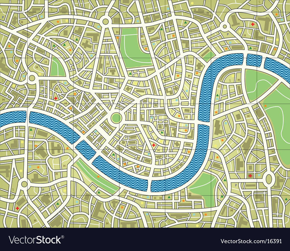 City map vector image