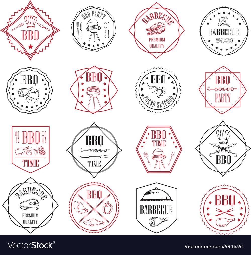 Set of BBQ labels