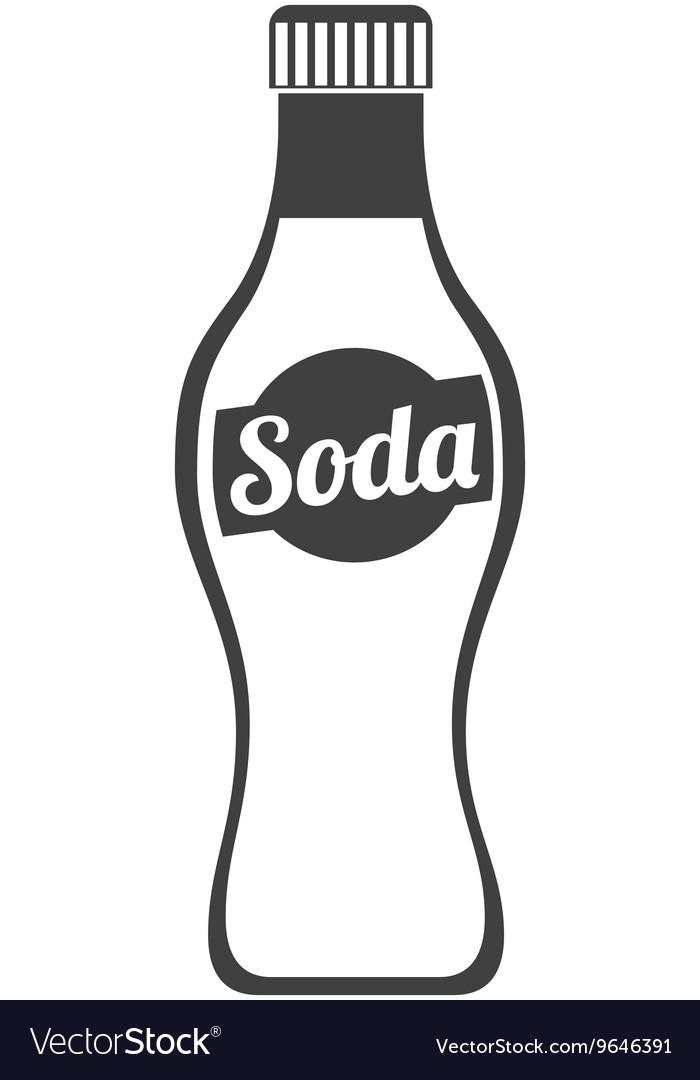 Soda bottle isolated icon design