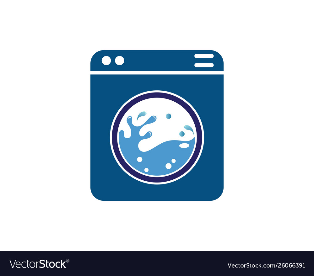 washing clothes logo icon laundry service vector image vectorstock