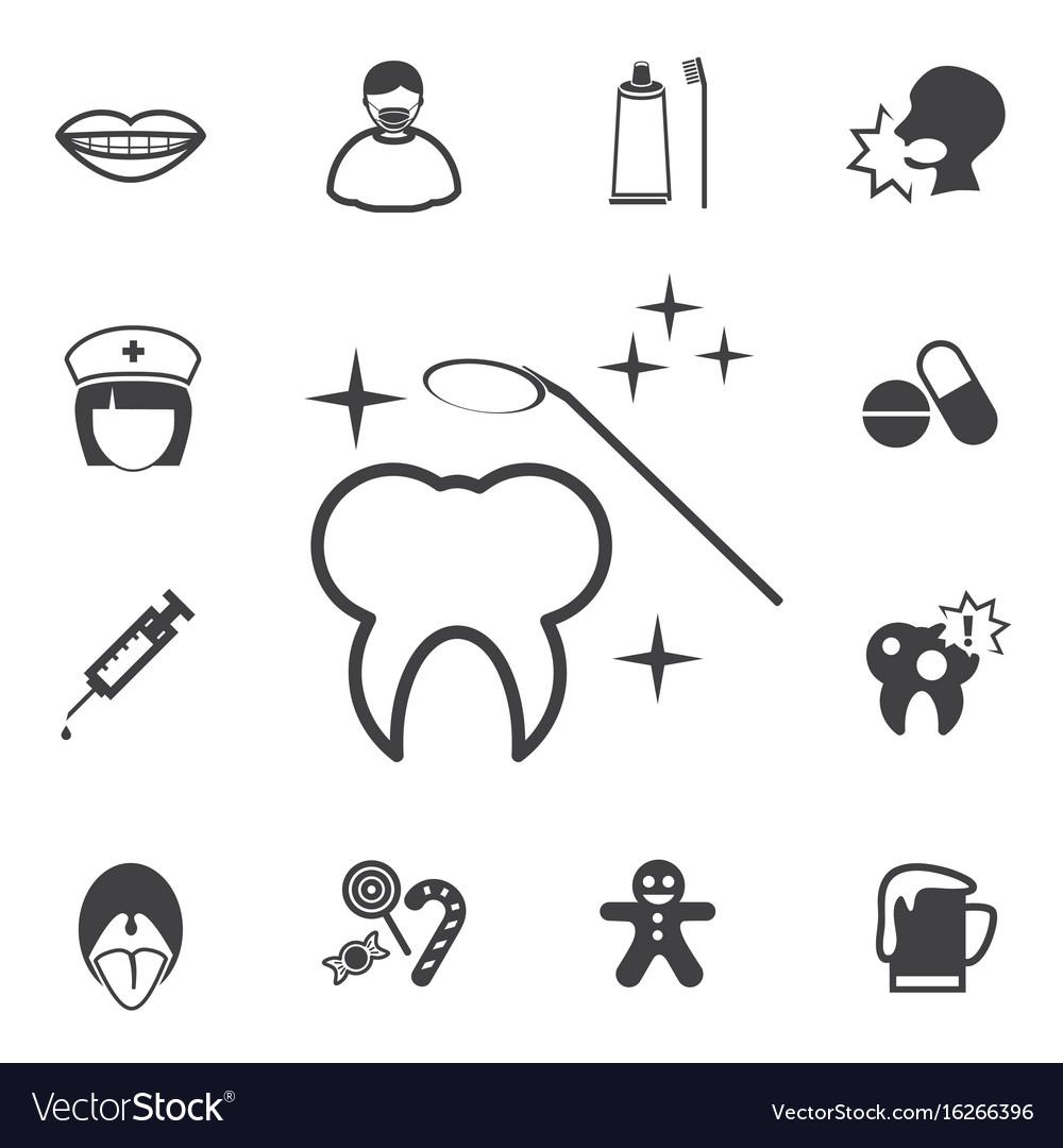 Dental icons set vector image