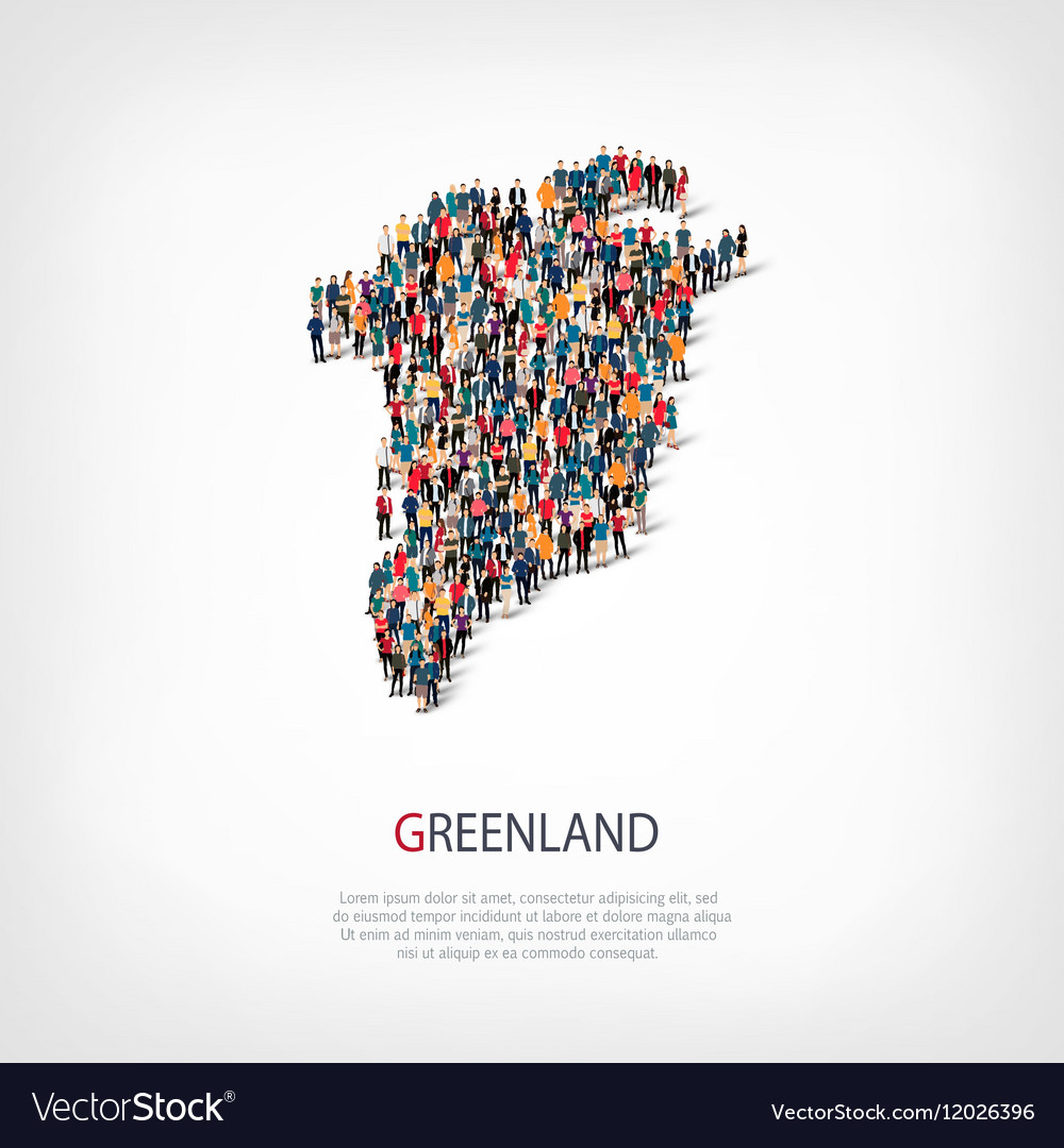People map country Greenland vector image