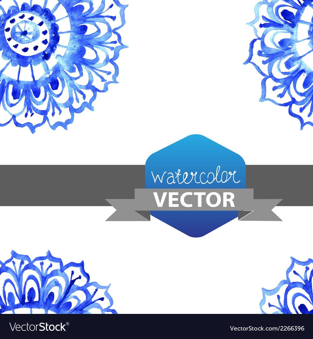 Watercolor flower seamless pattern