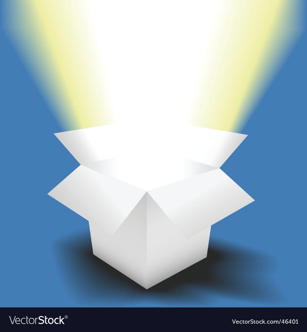 Bright light vector image