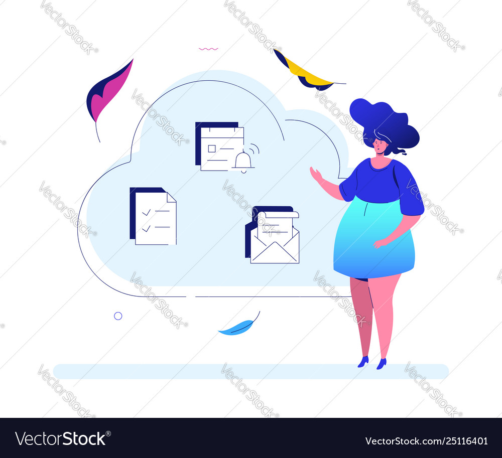 Cloud computing - modern flat design style
