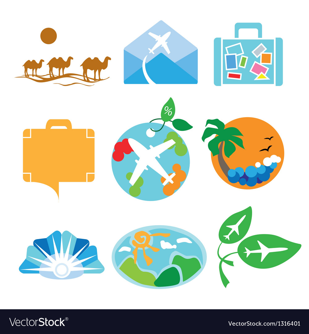 Collection of logos for travel agencies