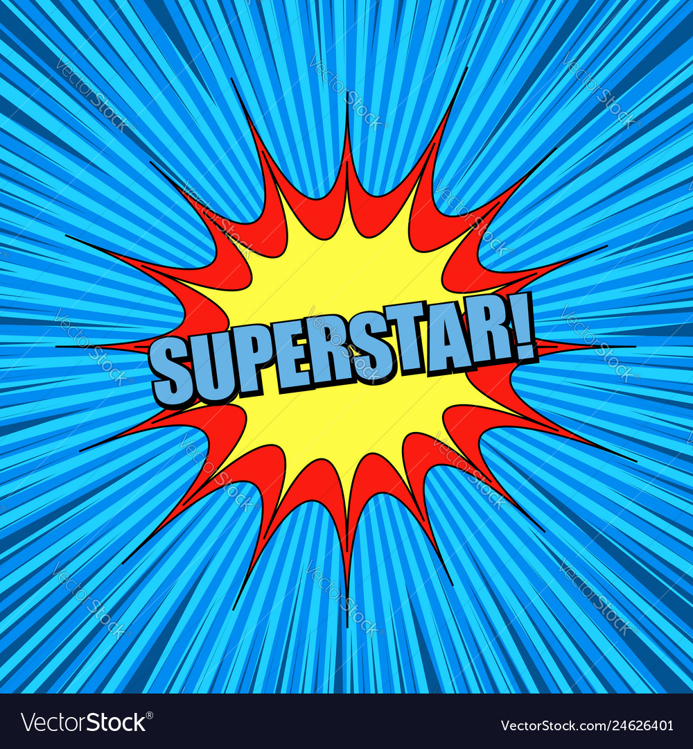 Comic blue explosive super background