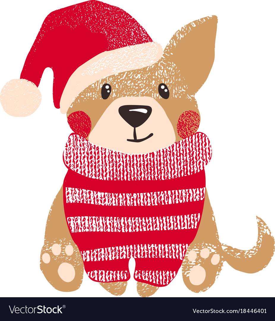 Cute dog symbol of year 2018