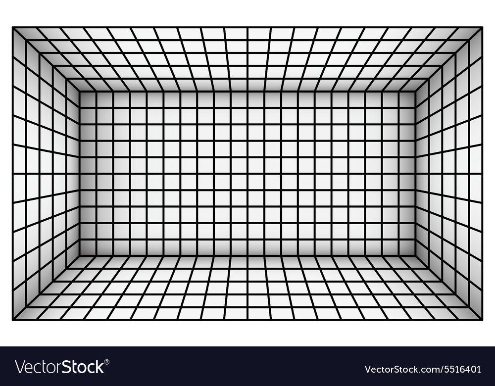 Empty futuristic room with shaded techno wall vector image
