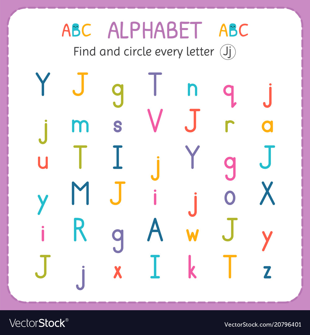 - Find And Circle Every Letter J Worksheet For Vector Image