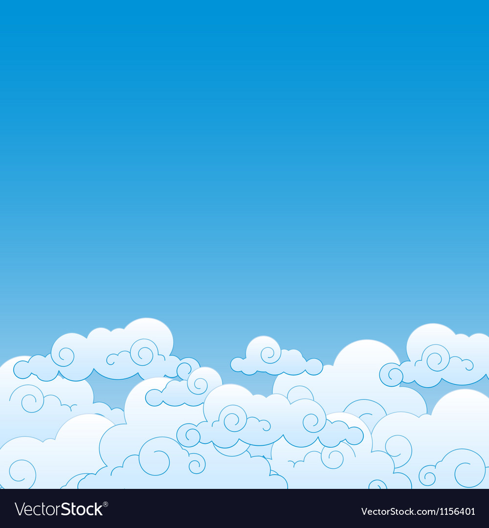 Good weather background Blue sky with clouds