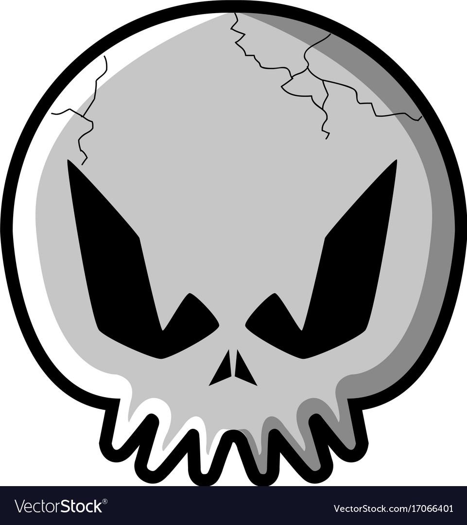 Isolated skull icon
