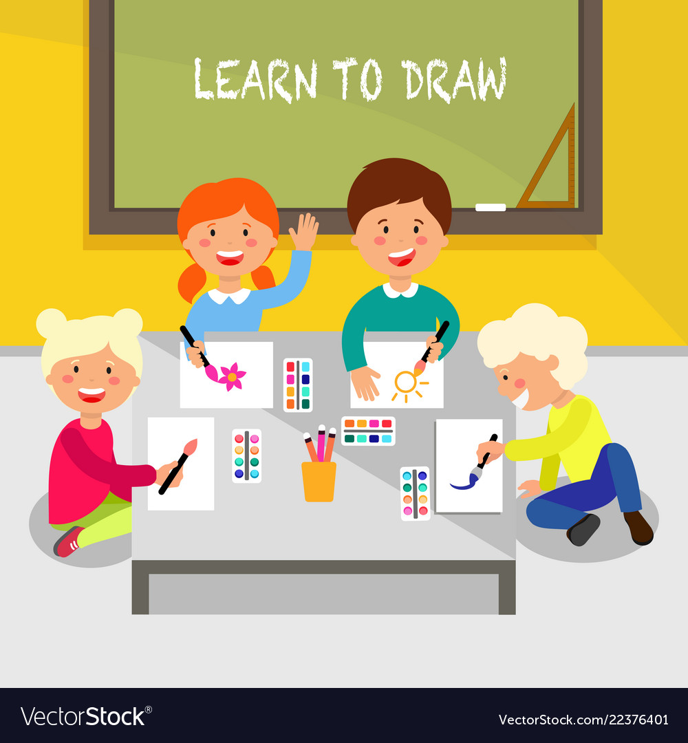 Learn to draw flat
