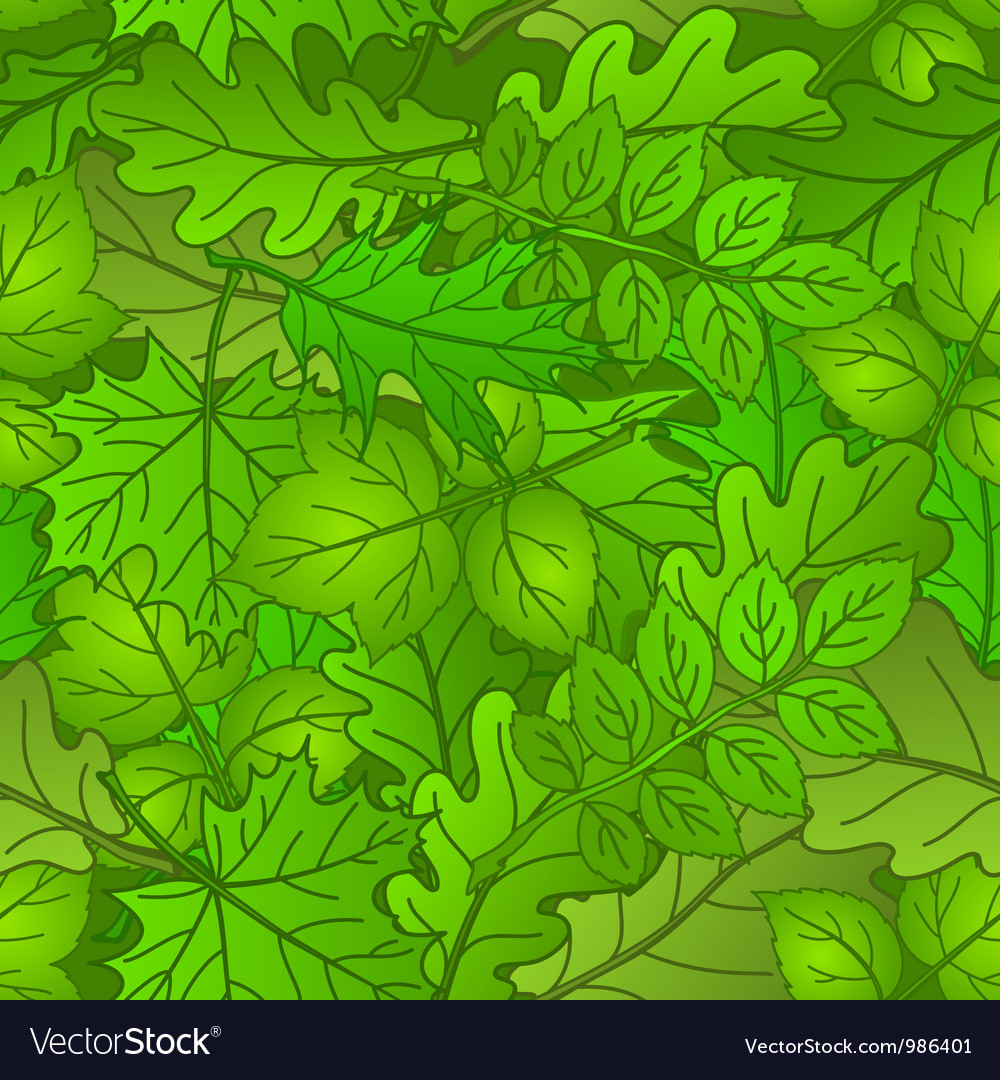 Leaves of plants seamless summer