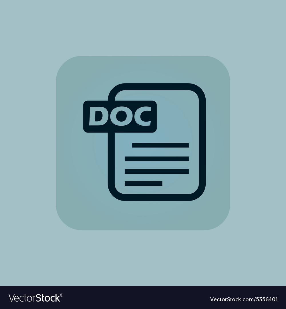 Pale blue DOC file icon