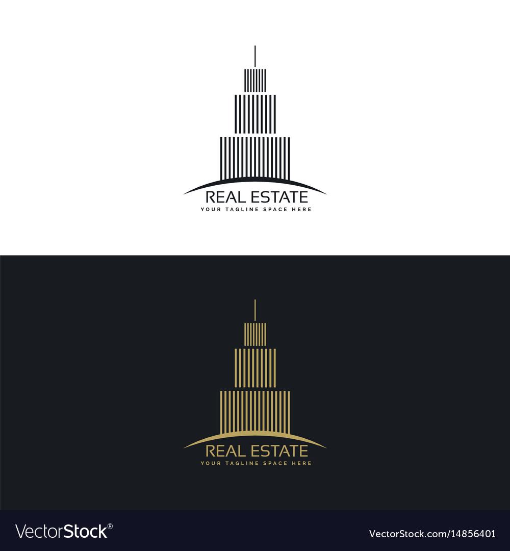 Real estate or hotel logo design template vector image