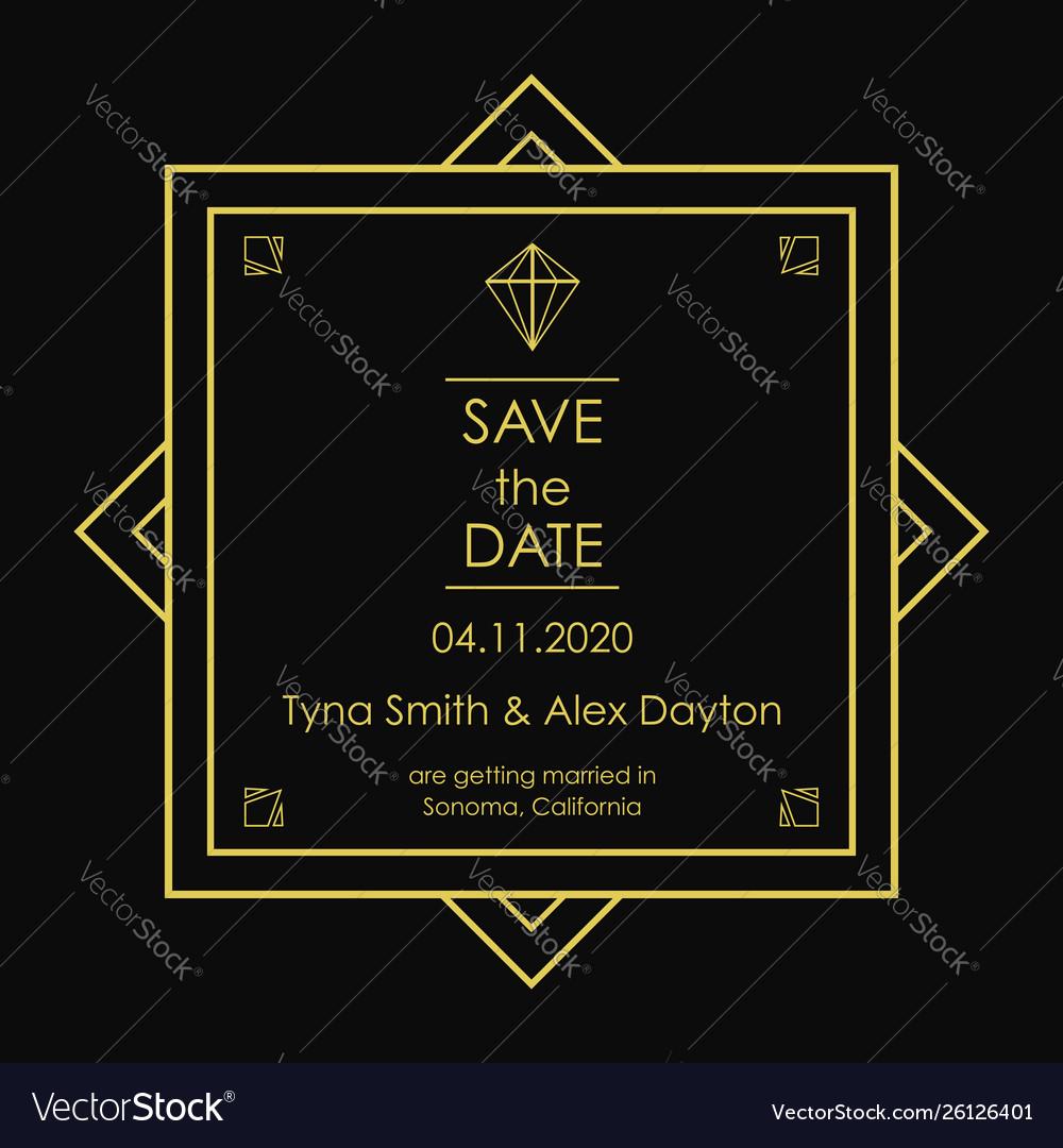 Save date card
