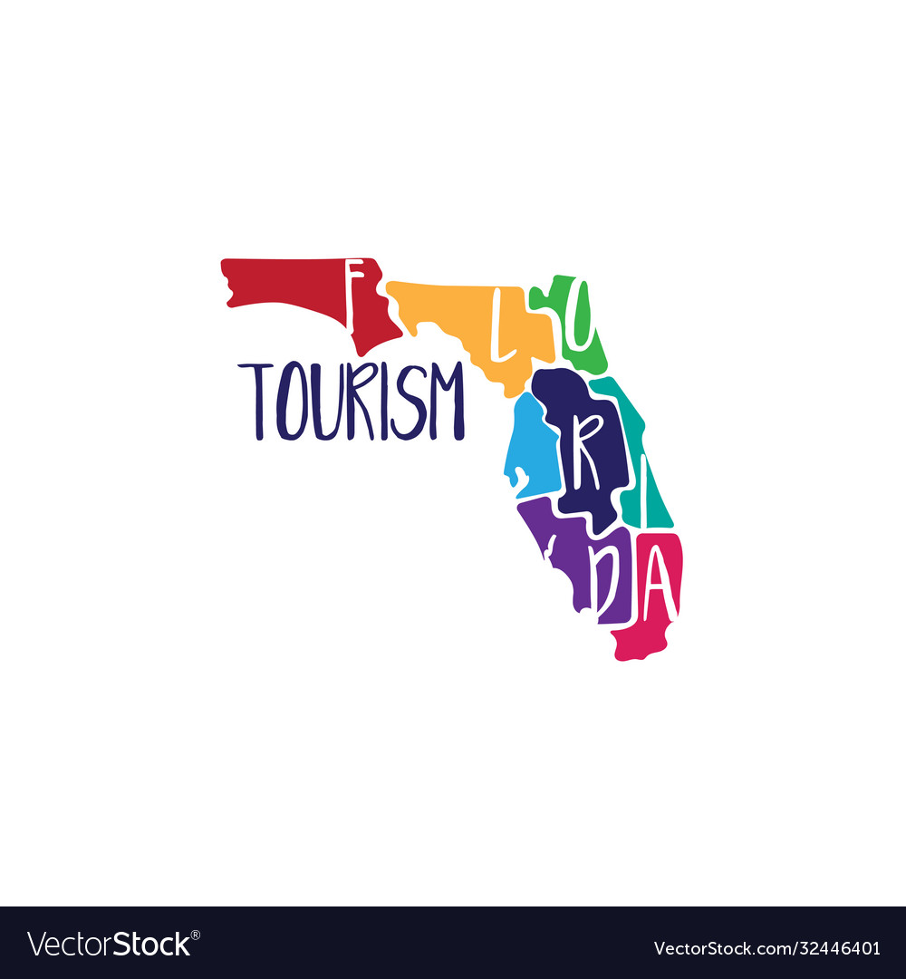 Template icon art florida map