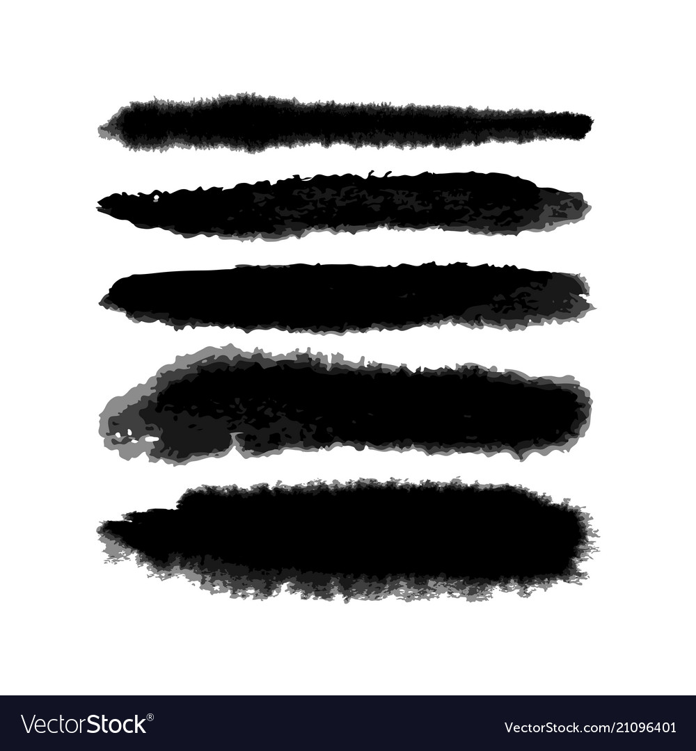 Watercolor fuzzy brushes set vector image