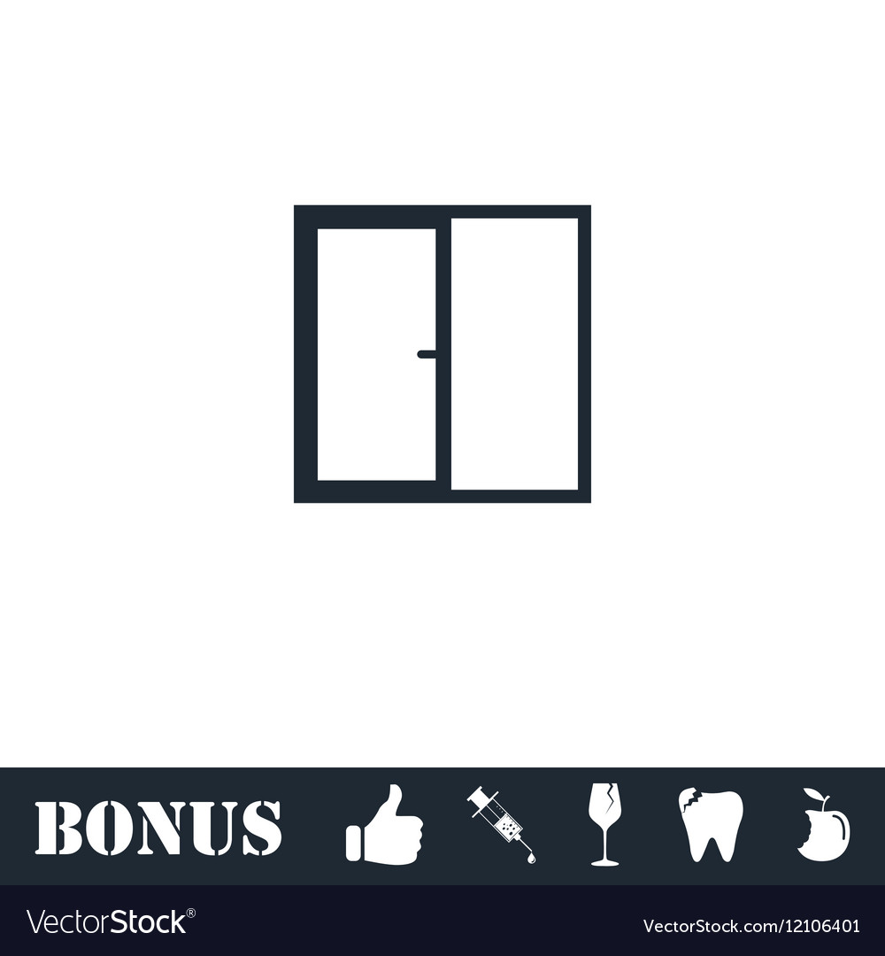 Window icon flat