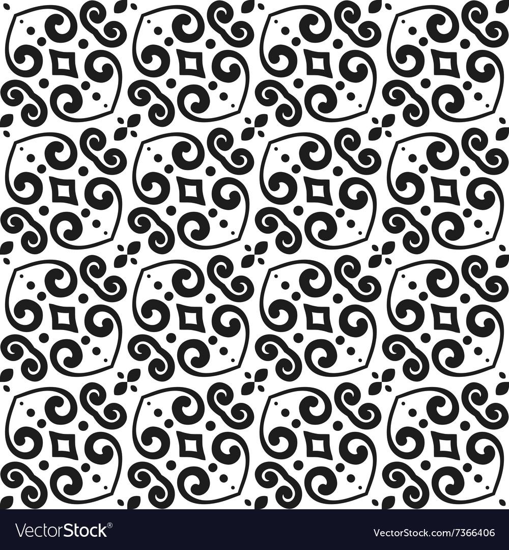 Abstract monochrome seamless hand-drawn pattern