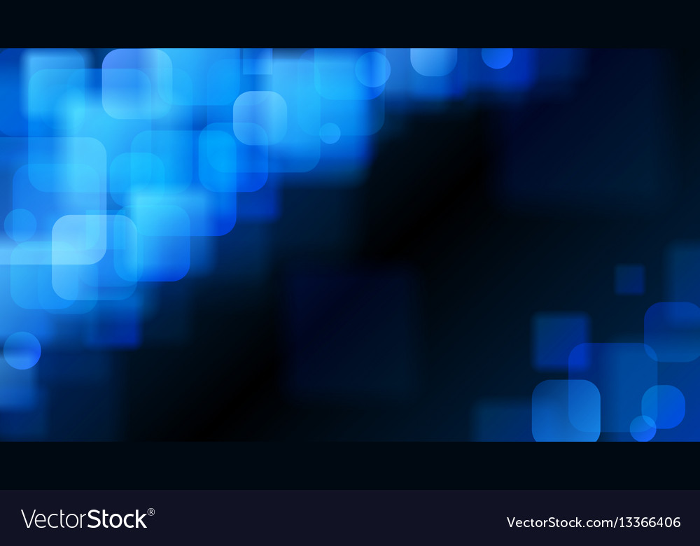 Blue abstract background of blurry squares vector image on VectorStock