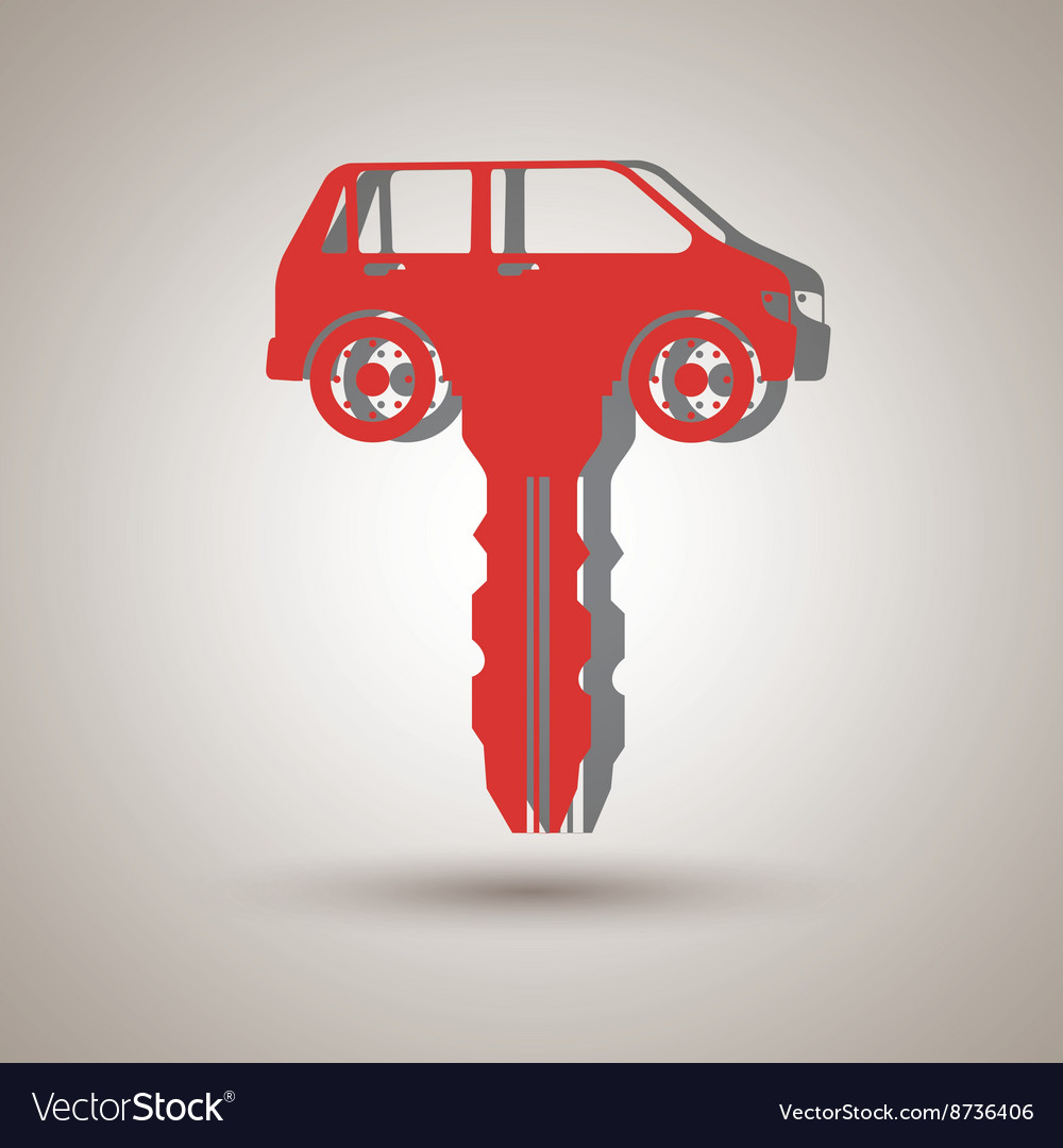 Car Key Design Royalty Free Vector Image Vectorstock