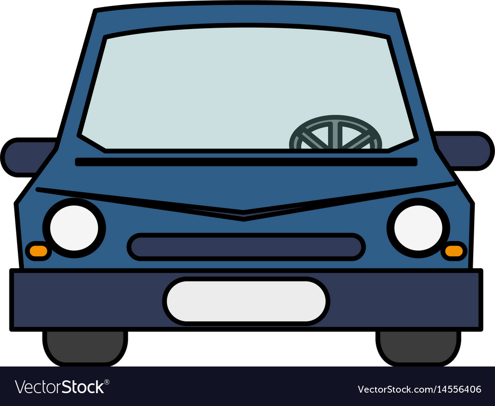 Colorful Realistic Image Front View Car Royalty Free Vector