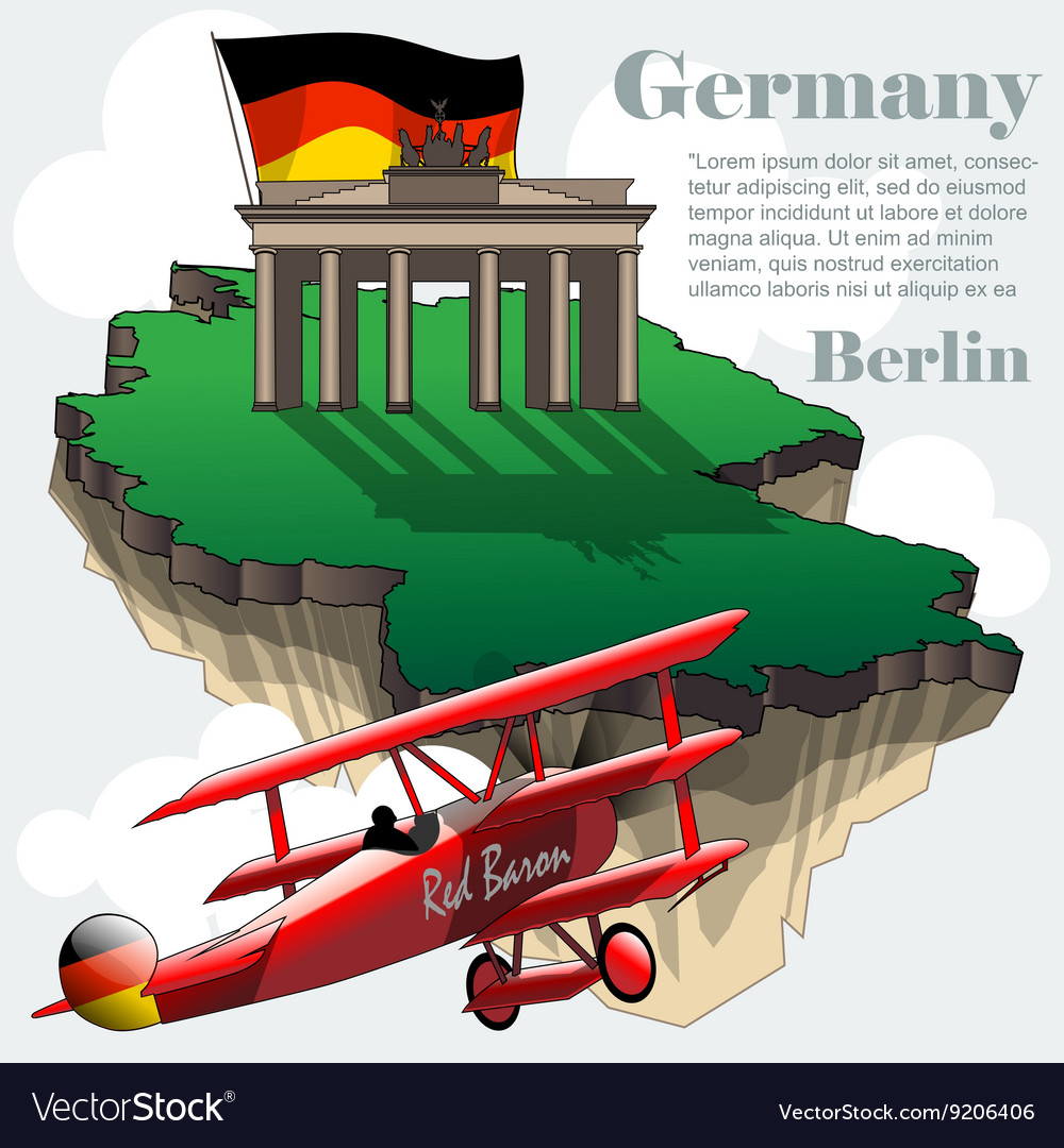 Map Of Germany 3d.Germany Country Infographic Map In 3d Royalty Free Vector