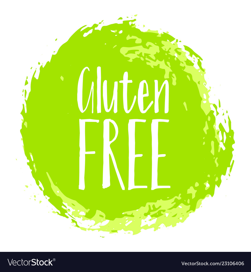 Gluten free label painted round emblem icon